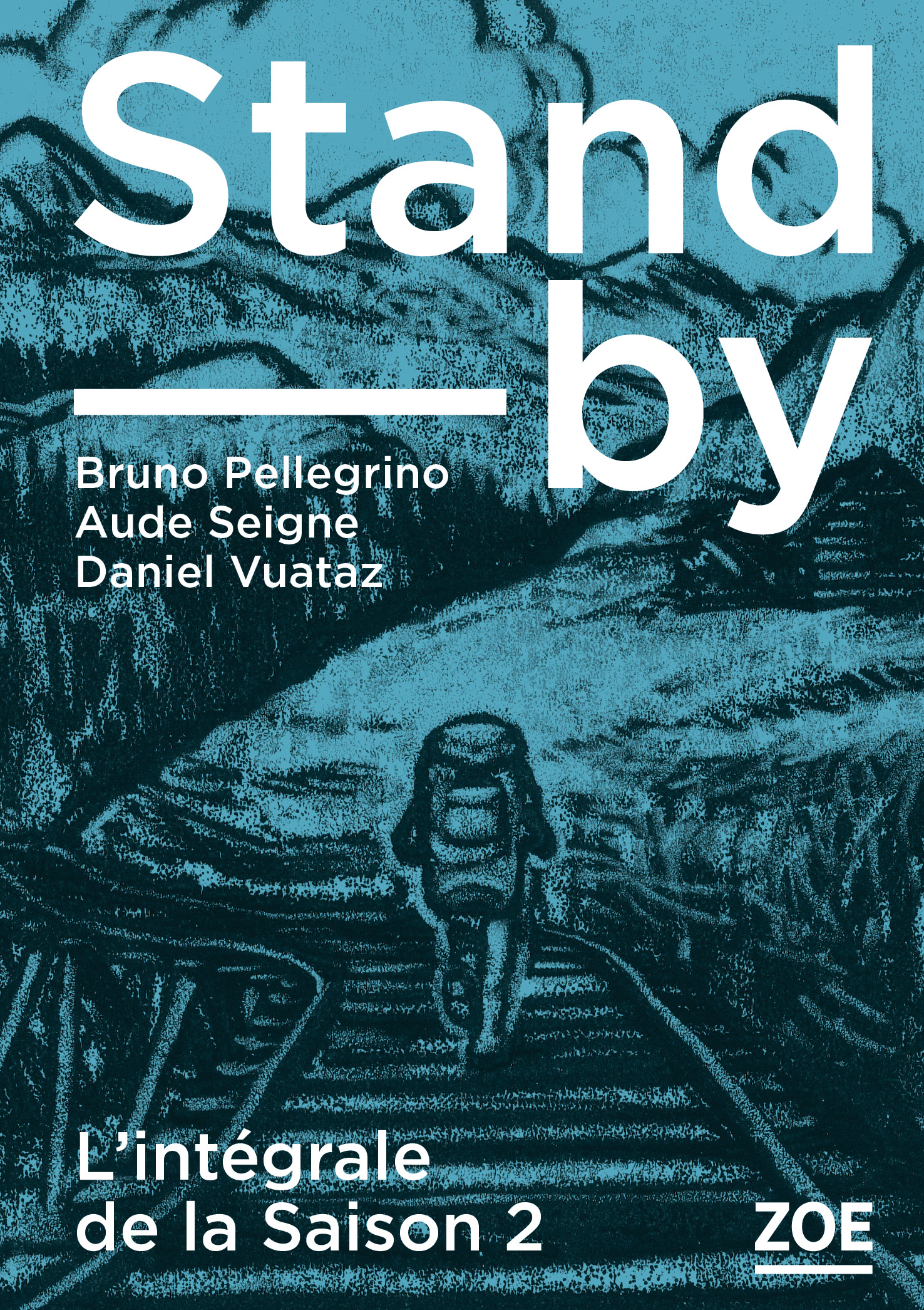 "La couverture de ""Stand-by"" saison 2 illustrée par Tom Tirabosco."